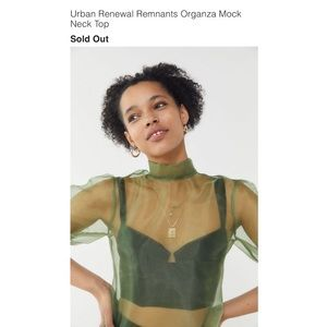 Urban Outfitters+Organza Top+Green